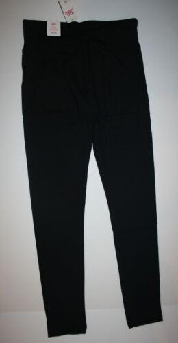 NEW Justice Black Classic Full Length Leggings 6  year Girls