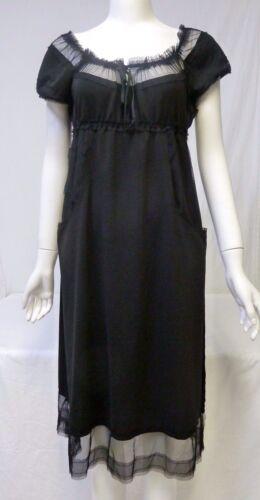 ANNA SUI Women's Beautiful Black Sleeveless Knee-Length Dress Size 6