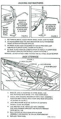 1964 Ford Thunderbird Jack Instruction Decal