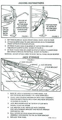 1965 Ford Thunderbird Jack Instruction Decal