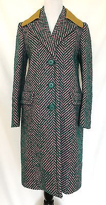 Prada Herringbone Wool & Mohair Coat.NWT Size Italian 40 US 4 Price $1,215.