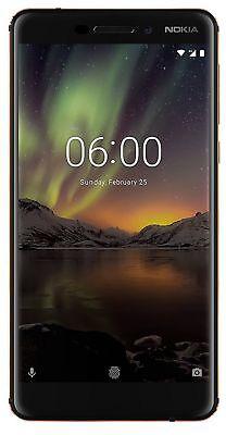 Nokia 6.1 4GB Ram 64GB Rom (Dual Sim) - Schwarz / Kupfer Global Version