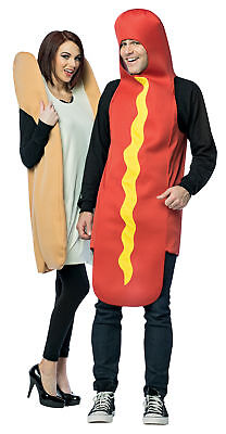 Hot Dog And Bun Adult Couples Costume Halloween