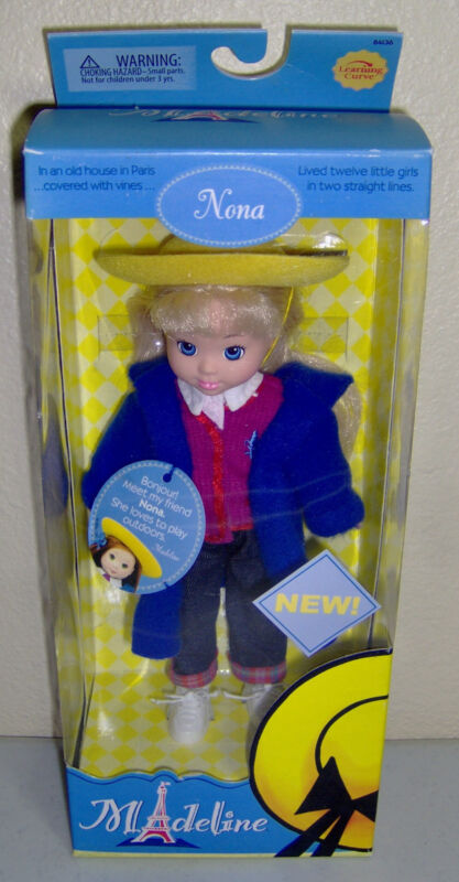 Madeline Doll Nona Poseable Learning Curve Friend NEW Old Stock 8""
