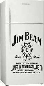 Jim Beam Fridge, Bar, Sticker Decal, 580 x 455mm