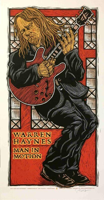 Warren Haynes Man in Motion Poster Original Silkscreen 2011 Signed Gary Houston