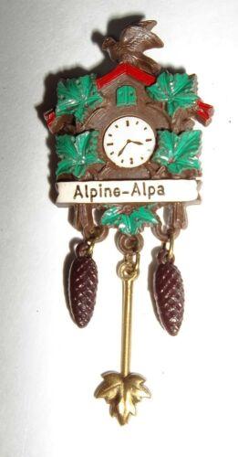 Vintage Alpine Alpa Wilmot Ohio Plastic Cuckoo Clock Pin
