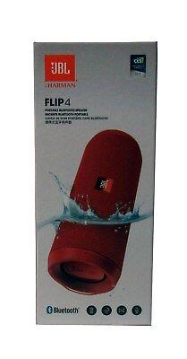 JBL Flip 4 Waterproof Portable Bluetooth Speaker Red- Sealed NEW *FLIP4RED