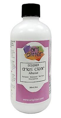 Art Institute Glitter Adhesive Designer Glue Dries Clear (8 oz) Liquid LG (Art Institute Glitter Art)