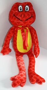 Plush-Appeal-Stuffed-Animal-FROG-14-034-Red-Plush-Soft-Toy-Yellow-Tummy-Long-Legs