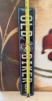 LARGE 2 FEET TALL OLD BIKER HEAVY EMBOSSED METAL SIGNN BIKER DEALER SHOP GARAGE Beach Ball Twister