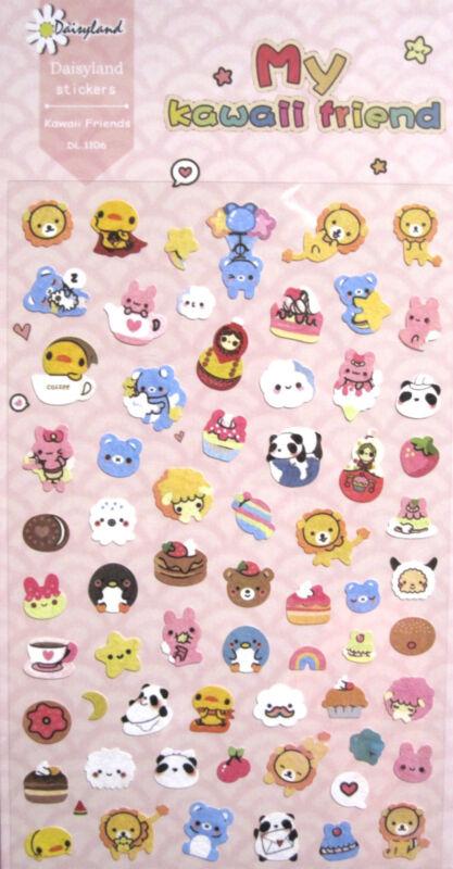 Daisyland My Kawaii Friend Scrapbooking Sticker Sheet ~ KAWAII!!