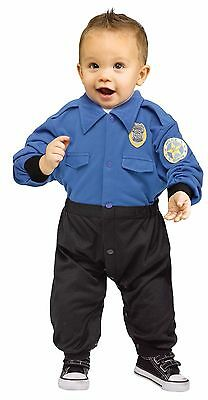 Boys Realistic Police Officer Costume Cop Policeman Infant Toddler 6-12 Months