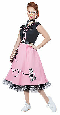 Adult 50s Poodle Skirt Sweetheart Grease Costume  - 50s Sweetheart Costume