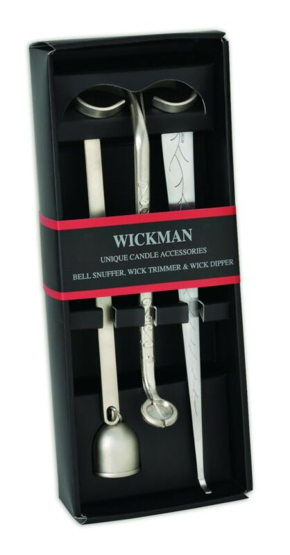 Wickman® Candle Accessory 3 Piece Gift Set with Wick Trimmer, Dipper and Snuffer