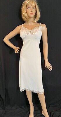 Vintage 50's Nylon Full Slip SZ 42 Tall Sheer Butter Soft Nylon Lace