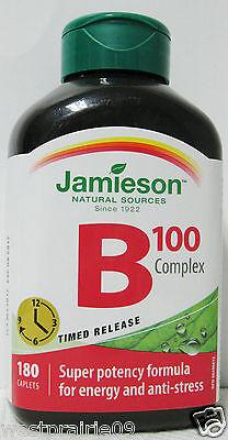 Jamieson Natural Sources Vitamin B 100 Complex 180 Timed Release Caplets for sale  Edmonton