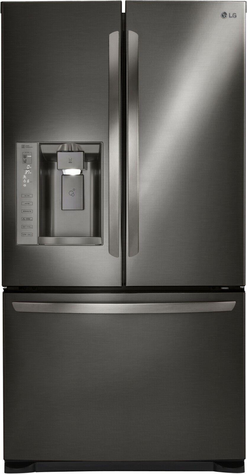"LG LFX25973D 36"" Black Stainless Steel French Door Refrigera"