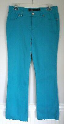DISMERO Blue Cotton Blend Italian Straight Leg Pants Size 30 Waist 31.5 -