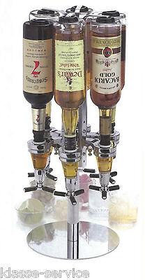Getränkeportionierer Tisch Flaschenhalter für 6 Flaschen - Bar Butler II