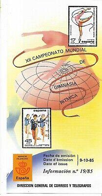 España Campeonato Mundial Gimnasia Ritmica año 1985 (EZ.83)