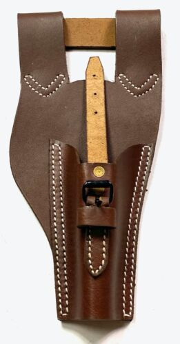 WWI FRENCH LEBEL 1890/92 1915 RIFLE LEATHER BAYO CARRY FROG-BROWN