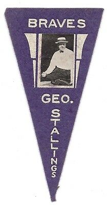 1916 BF2 Ferguson Bakery Pennants 84 George Stallings Ex-Mt  PURPLE BOSTON BRAVE