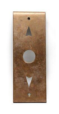 Cast Brass Antique Elevator Plate