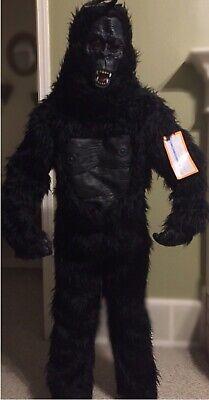 Gorilla Costume Adults (Gorilla Costume Halloween Costume Black Youth Large / Adult Small ~)