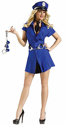 HAPPY HOUR CUFF'D UP POLICE OFFICER NAUGHTY ADULT HALLOWEEN COSTUME MEDIUM/LARGE ()