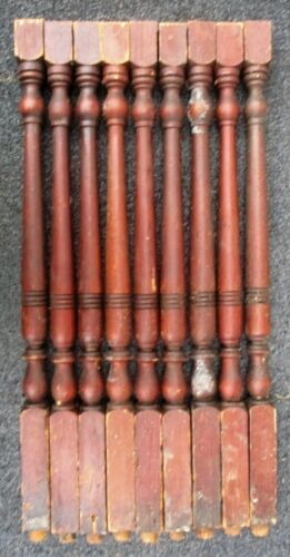 "Pine Victorian Spindles Balusters Columns Lot of 9 Antique 24 3/4"" high"