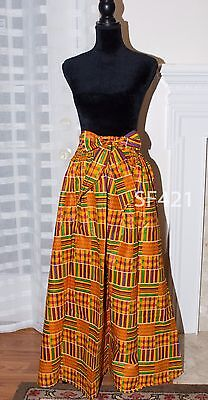SP Collections, African Kente Women Maxi Flare Skirt One Size