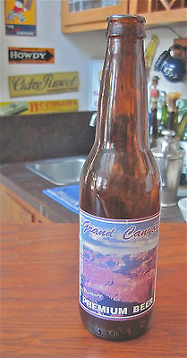 "1990s--""GRAND CANYON"" BEER""--BOTTLE--FROM CAVE CREEK, ARIZONA--12 OZ.----XLNT"