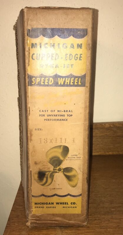 1964 Michigan Cupped Edge Dyna Jet Speed Wheel Propeller Nibral 13LH11 NOS n Box