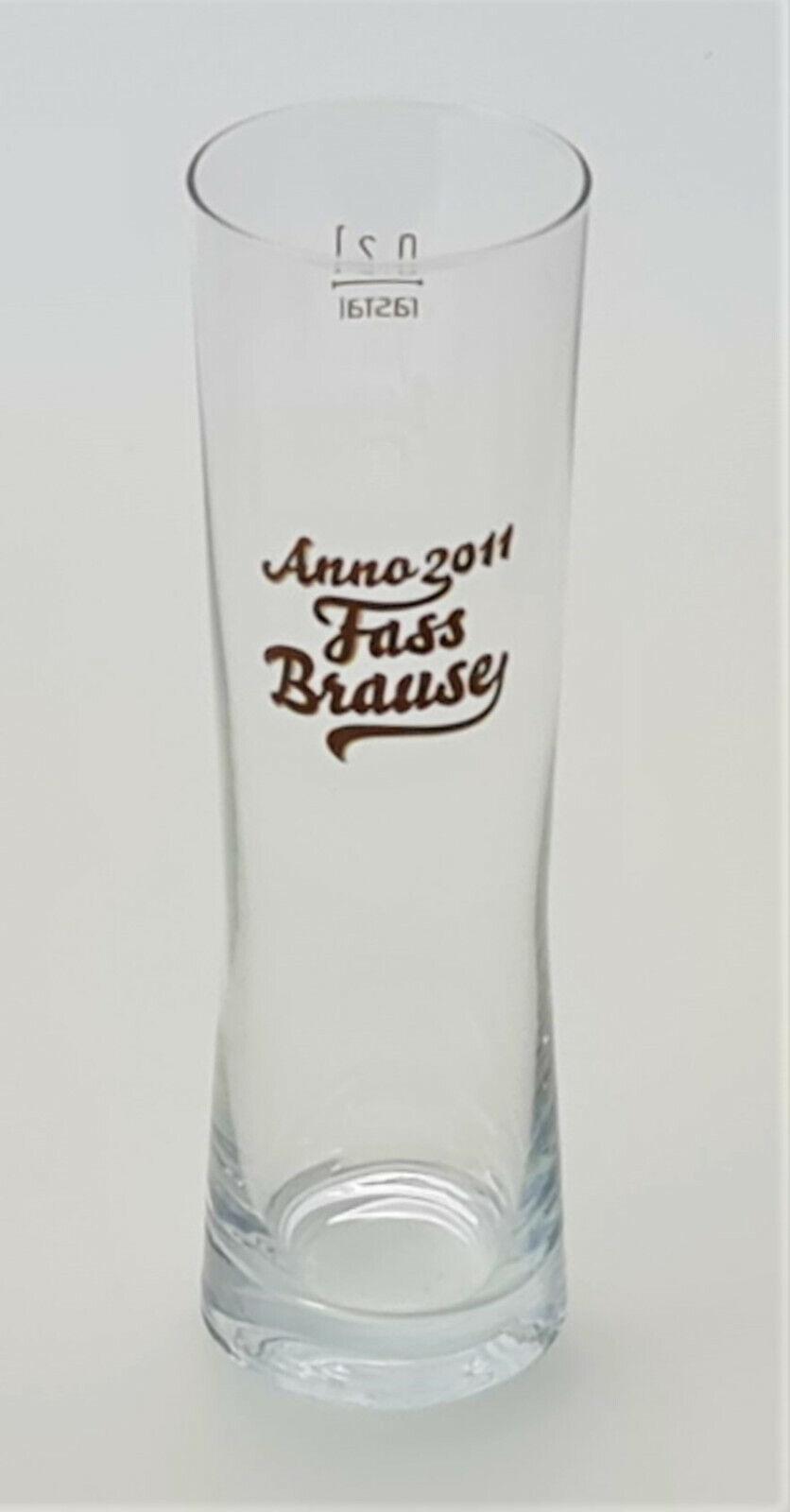 Anno 2011 Fassbrause Glas 0,2 l Erfrischung Isotonisch Alkoholfrei Party(5070-1)