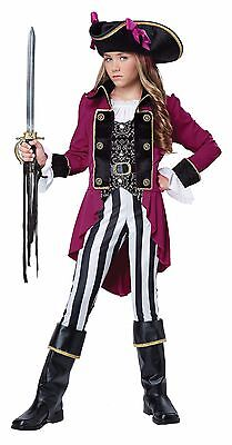 Fashion Pirate Captain Buccaneer Child Tween Costume (Pirate Costumes For Girls)