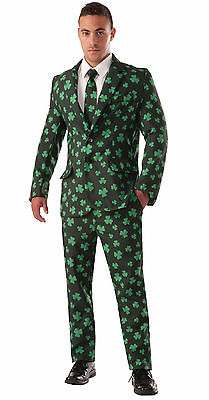 Shamrock Suit and Tie - Irish St. Patrick's Day Adult Costume - Shamrock Costume