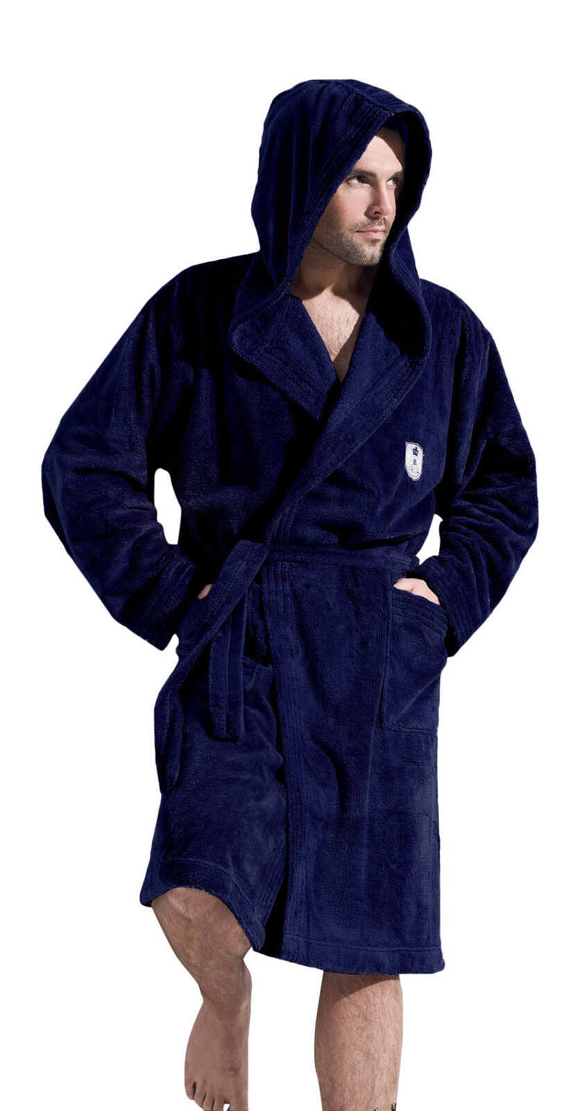 Men Gents Luxury SOFT Bath Robe Housecoat Dressing Gown Bathrobe ...
