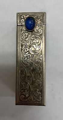 antique sterling lipstick and mirror