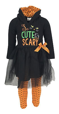 Cat Halloween Outfit (GirlsBlack Cat Halloween Costume Outfit Boutique Toddler Kids Clothes 2t 3t)