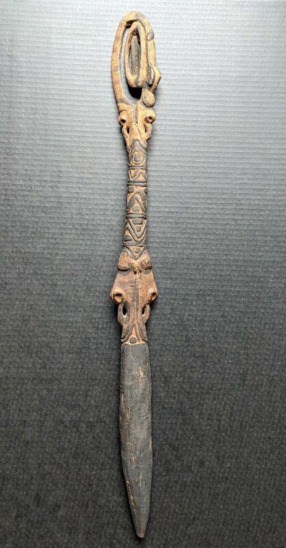 Rare Indigenous Upper Sepik Food Pounder Of The Iwam People