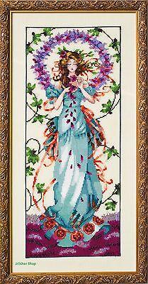 New Mirabilia Cross Stitch Chart MD152 Lady of Mystery Worldwide shipping