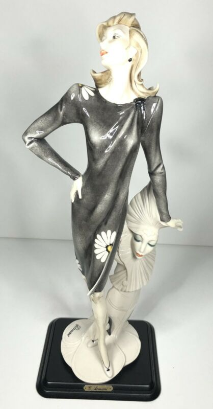 "Giuseppe Armani Lady With Mask Etrusca Arte 1990 16"" Tall Figurine"
