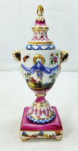 Antique Capodimonte Porcelain Urn Candlestick KPM Mark