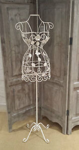 White Metal Flower Butterfly Decorative Mannequin Vintage Chic Boudoir 4ft