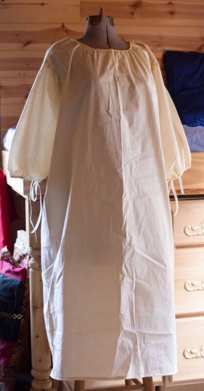 Cotton18th Century Colonial Outlander Williamsburg 1700s Chemise Shift