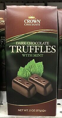 Crown Dark Chocolate Mint Truffles 2 Oz -