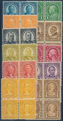 #632-634; 635-642 BLOCKS OF 4 VF OG NH CV $112 BS499