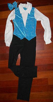 New DANCE GLITTERED JUMPSUIT ZIPPERBACK CHILD/ADLT Turquoise  - Dance Jumpsuit Kostüme