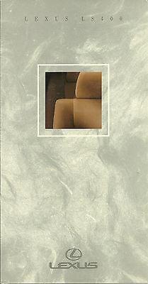 1991 Lexus Color Chart Paint / Interior Sample Brochure